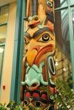 высекать totem полюса стороны Стоковое Изображение RF