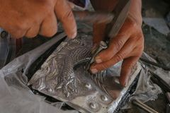 Высеките silverware, Чиангмай, Таиланд стоковое изображение
