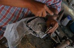 Высеките silverware, Чиангмай, Таиланд стоковая фотография rf