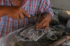 Высеките silverware, Чиангмай, Таиланд стоковое фото rf