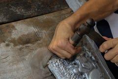 Высеките silverware, Чиангмай, Таиланд стоковое изображение rf