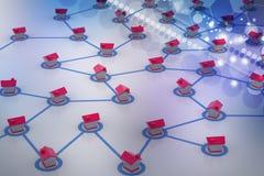 выселок сети символический Стоковое фото RF