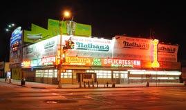 выслеживает горячий nathan s Стоковая Фотография RF