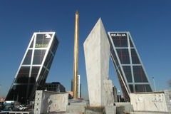 Высокая башня в Мадриде, Испании стоковое фото rf