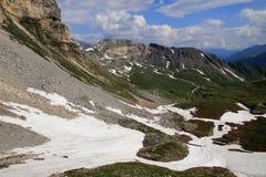 Высокая высокогорная дорога в Австрии Стоковое Фото