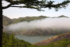 высокая гора озера Стоковые Изображения RF