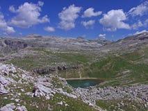 Высокая гора dolomiten Италия Стоковое фото RF