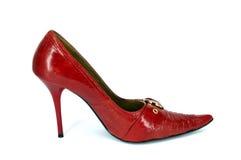 высокая женщина ботинка красного цвета s Стоковые Изображения RF