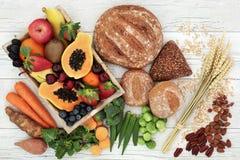 Высокая здоровая еда волокна стоковые фотографии rf