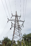 высокая линия напряжение тока башни силы Стоковые Фотографии RF