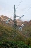 высокая линия напряжение тока опоры силы Стоковые Изображения RF