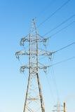 высокая линия напряжение тока силы Стоковые Фотографии RF