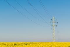 высокая линия напряжение тока силы Стоковое фото RF