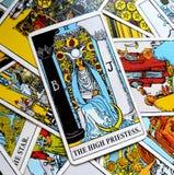 Высокая карточка Tarot подсознательная, секреты Priestess, Высок-собственная личность Стоковое фото RF