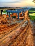 Высокая конструкция пути, сельская местность Китая стоковое фото rf