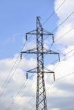 высокая линия напряжение силы Стоковая Фотография RF