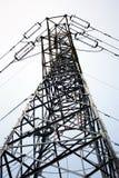высокая линия напряжение тока башни силы Стоковая Фотография RF