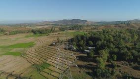 высокая линия напряжение тока силы Филиппины, Лусон Стоковое Фото