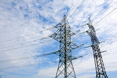 высокая линия напряжение тока силы штендера Стоковые Изображения RF