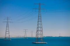 высокая линия напряжение тока силы Стоковые Фото