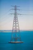 высокая линия напряжение тока силы Стоковое Изображение RF
