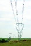 высокая линия напряжение Стоковые Фотографии RF