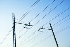 высокая линия напряжение Стоковое Фото
