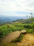 Высокая дорога холма и горы на Phetchabun, Таиланде Стоковые Изображения RF