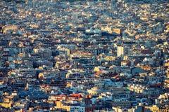 Высокая плотность домов увиденных сверху стоковые изображения rf
