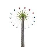 Высокая привлекательность carousel летания стоковое фото