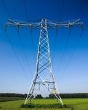 высокая промышленная линия напряжение тока силы Стоковое Изображение