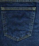 Текстура ткани джинсовой ткани - голубое карманн Стоковые Изображения