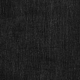 Текстура ткани джинсовой ткани - чернота Стоковое Изображение