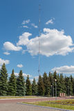 Высокая стальная радиовышка Стоковое Фото