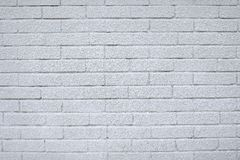 Высокая текстура разрешения белой кирпичной стены Класть горизонтальный Стоковое Изображение RF