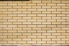 Высокая текстура разрешения желтой кирпичной стены Класть horizonta Стоковые Изображения RF