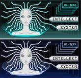 высокая технология техника системы интеллекта иллюстрация вектора