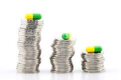 Высокая цена лекарства стоковые изображения