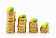 Высокая цена лекарства Стоковое Фото