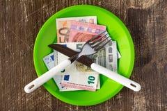 Высокая цена концепции еды стоковые фото