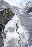 Высокие высокогорные снежности в французских горных вершинах Стоковое фото RF