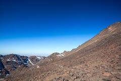 Высокие горы атласа Идя тропа Стоковые Фото