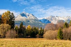Высокие горы в осени, Словакия Tatras Стоковое Изображение RF