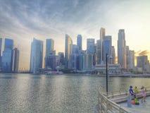 Высокие здания в Сингапуре стоковые фото
