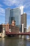 Высокие здания подъема в городском Чикаго Стоковое Изображение