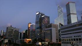 Высокие здания в городе Гонконга видеоматериал