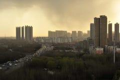 Высокие здания и шоссе Стоковые Фотографии RF