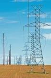 высокие линия электропередач Стоковая Фотография RF