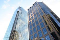 высокие небоскребы подъемов Стоковое Фото