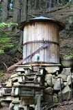 Высокие падения ущелье, Уилмингтон, Нью-Йорк, Соединенные Штаты Стоковое фото RF
